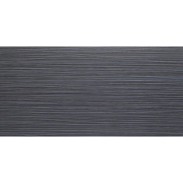 Fabrique 12 x 24 Porcelain Wood Look Tile in Noir Linen by Daltile