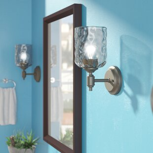 Reviews Manalapan 1-Light Armed Sconce By Latitude Run