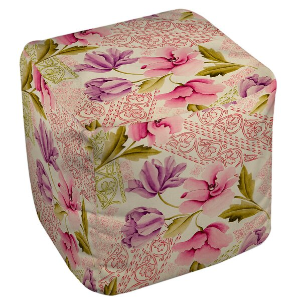 Tulips and Lace Pouf by Manual Woodworkers & Weavers