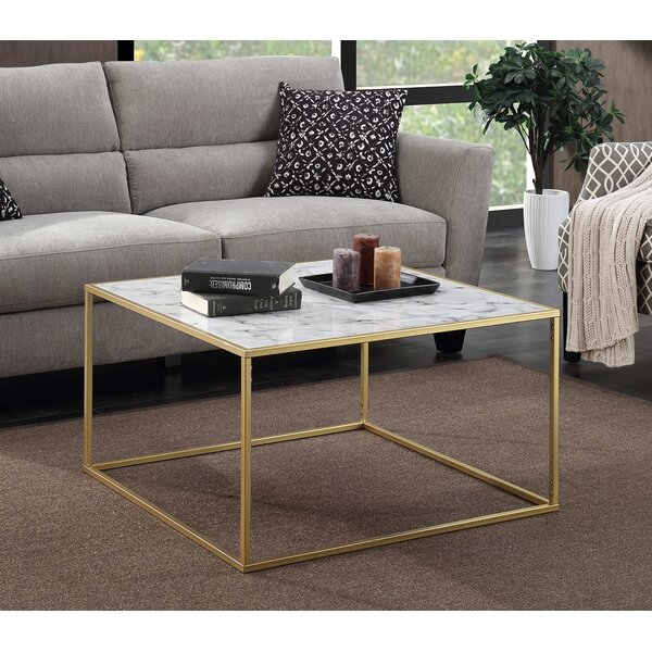 Willa Arlo Interiors Theydon Faux Marble Coffee Table U0026 Reviews | Wayfair