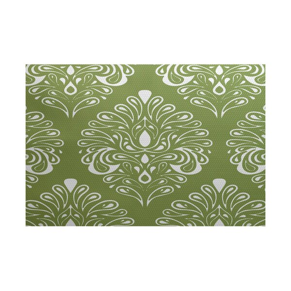 Rhymer Green Indoor/Outdoor Area Rug by Charlton Home