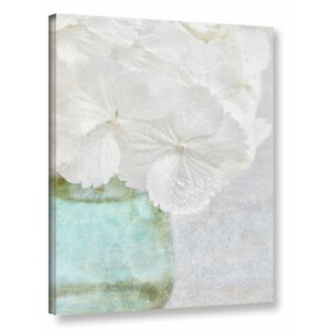 'White Hydrangea' Photographic Print on Wrapped Canvas by Willa Arlo Interiors