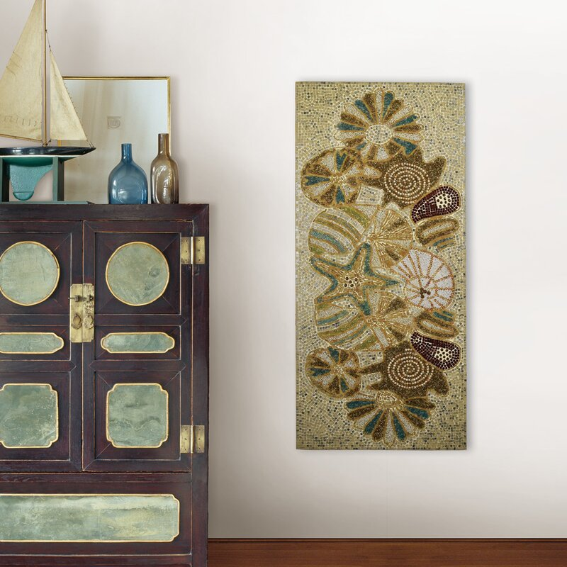 Highland Dunes Sealife Mosaic Panel Wall Décor | Wayfair