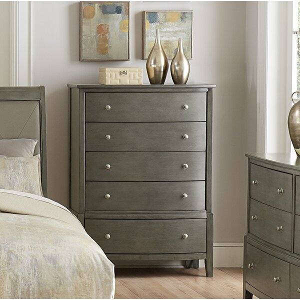 Jeffries 5 Drawer Chest by Wrought Studio