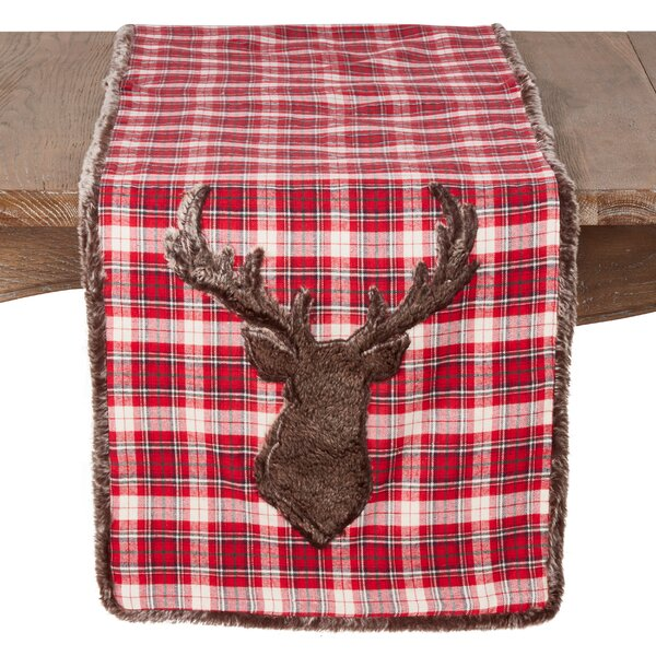 Naomi Faux Fur Reindeer Table Runner by Millwood Pines