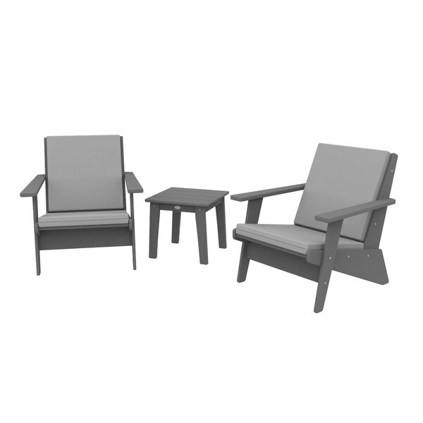 Polywood® Traditional 3 Piece Seating Group with Cushions by Sol 72 Outdoor