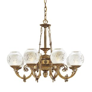 White vintage chandelier wayfair vintage 8 light shaded chandelier aloadofball Choice Image