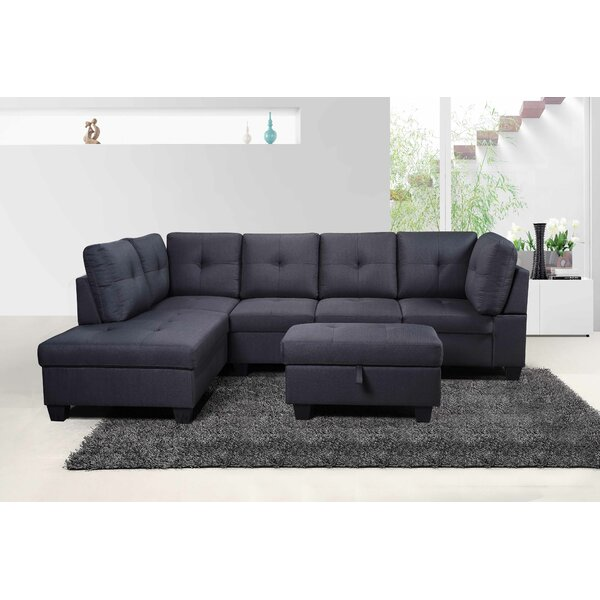 Arlie Modular Sectional with Ottoman by Ebern Designs