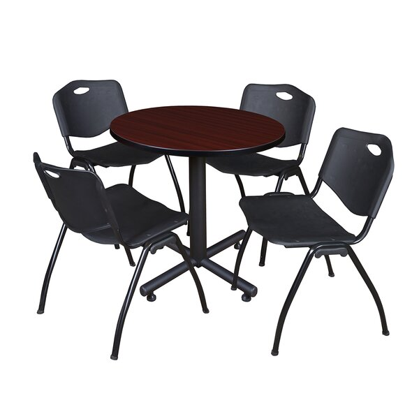 Marin 30 Round 5 Piece Breakroom Table and Chair Set by Symple Stuff