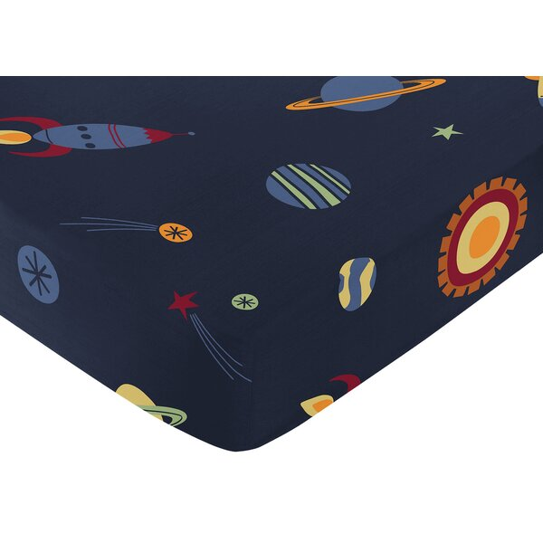 Space Galaxy Fitted Crib Sheet by Sweet Jojo Designs