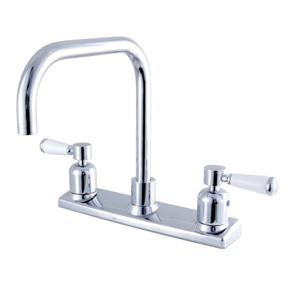 Paris Pull Down Double Handle Kitchen Faucet by Kingston Brass
