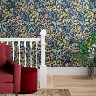 Asotin Garden Semi-Gloss Peel and Stick Wallpaper Roll