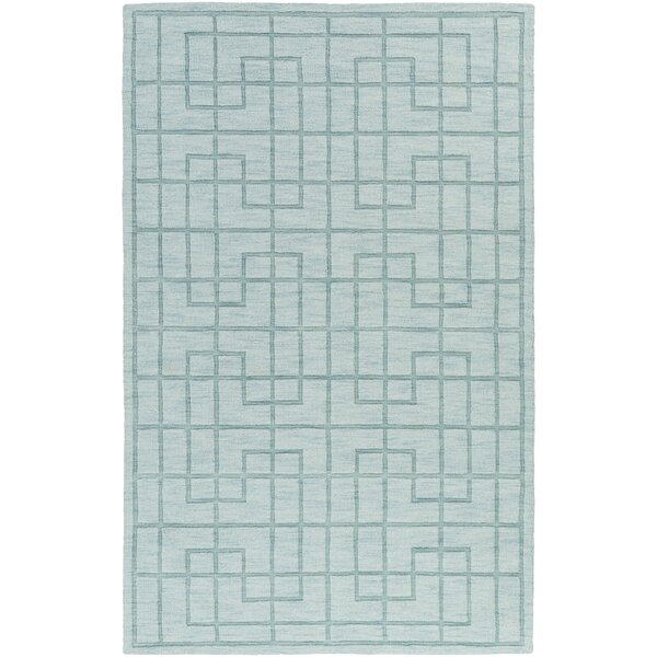 Peever Hand-Loomed Aqua Area Rug by Charlton Home