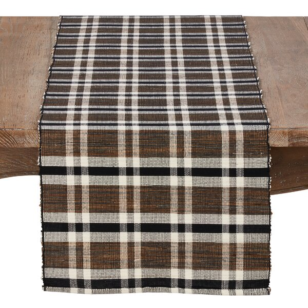 Stokes Plaid Woven Table Runner by Loon Peak