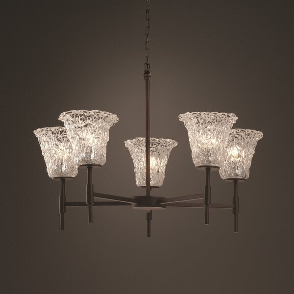 Kelli 5 - Light Shaded Classic / Traditional Chandelier By Darby Home Co