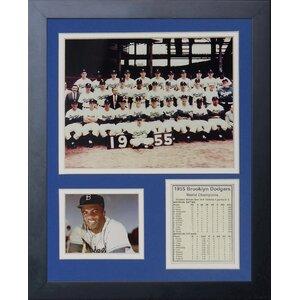1955 Brooklyn Dodgers Framed Memorabilia by Legends Never Die