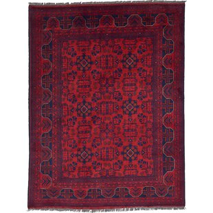 One-of-a-Kind Auxvasse Hand-Knotted 5' x 6'5 Wool Red Area Rug by Isabelline