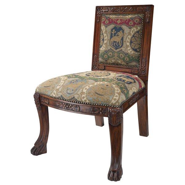 Beardsley Heraldic Lion Chair Side Chair by Design Toscano