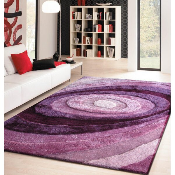 Living Shag Shades of Lavender Rug by Rug Factory Plus