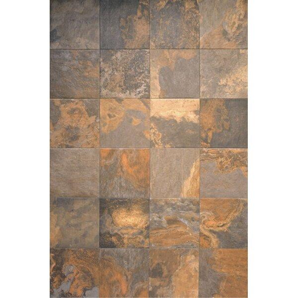 13 x 13 Ceramic Field Tile in Supremo Slate by Interceramic