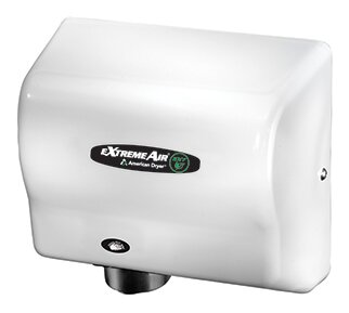 EXT Series 540W Max Hand Dryer in Steel White by American Dryer