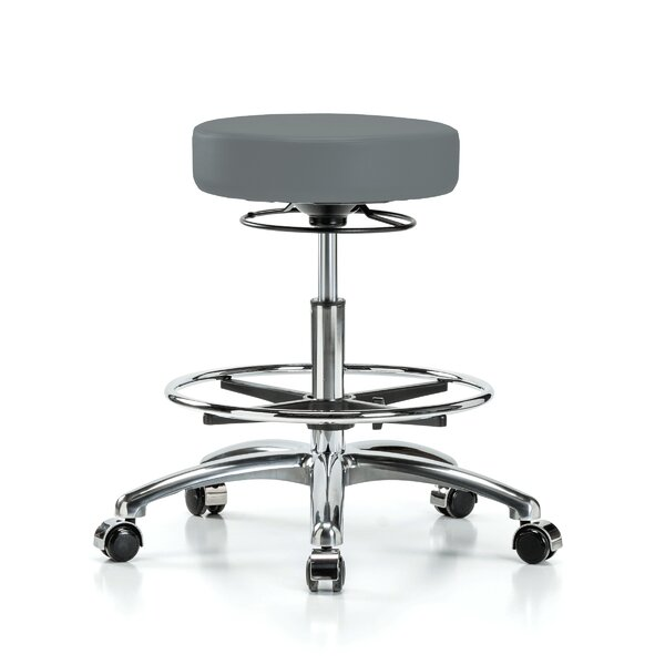 Height Adjustable Massage Therapy Swivel Stool with Foot Ring