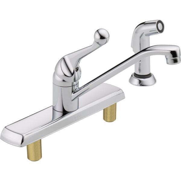 Single Handle Kitchen Faucet with Side Spray by Delta