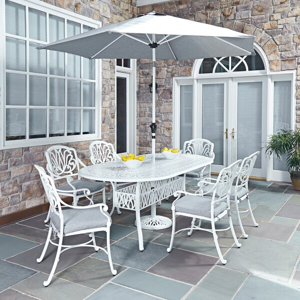Yates 9 Piece Dining Set With Cushions By One Allium Way