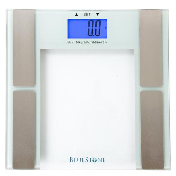 Digital Body Fat Scale with Tempered Glass Platform by Bluestone