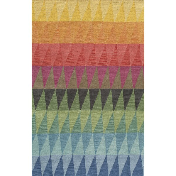 Eli Hand-Tufted Blue/Green/Yellow Kids Rug by Viv + Rae