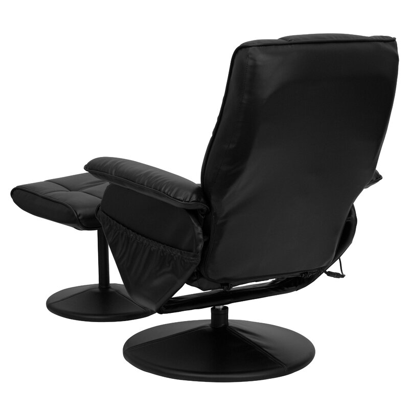 Delicieux Reclining Heated Massage Chair With Ottoman
