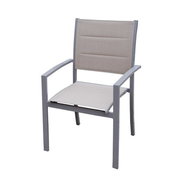 Padded Sling Stacking Patio Dining Chair (Set of 4) by Oakland Living