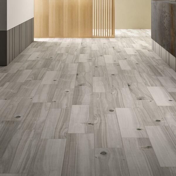 Havenwood Platinum 8 x 36 Porcelain Wood Look Tile in Gray by MSI