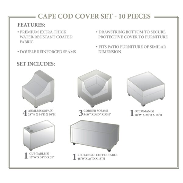 Cape Cod  Winter 10 Piece Cover Set by TK Classics