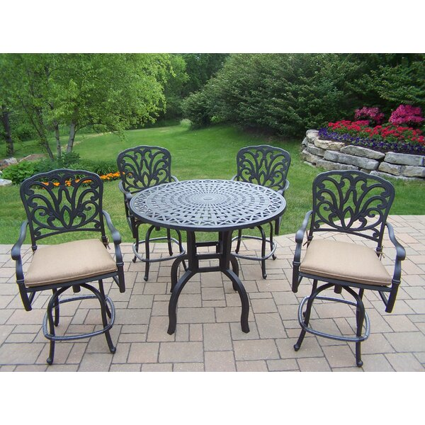 Bosch 5 Piece Bar Height Dining Set with Cushions by Darby Home Co