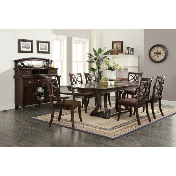Rudisill 7 Piece Solid Wood Dining Set by Canora Grey