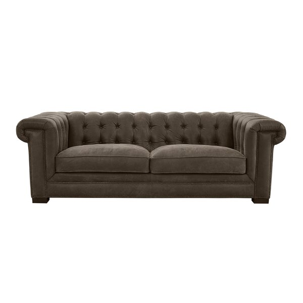 Borba Leather Sofa By Canora Grey