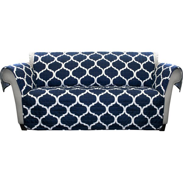 Bourget Box Cushion Sofa Slipcover by Three Posts