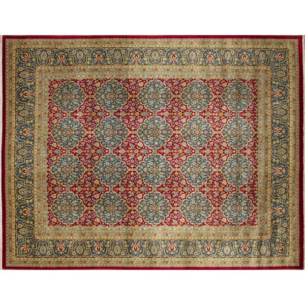 One-of-a-Kind Carlotta Hand-Knotted Red Area Rug by Isabelline