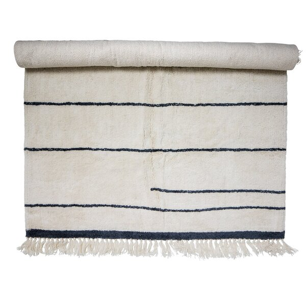Norberg Wool White/Blue Area Rug by Union Rustic
