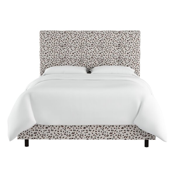 Vernita Neo Leo Tufted Upholstered Standard Bed by Wrought Studio