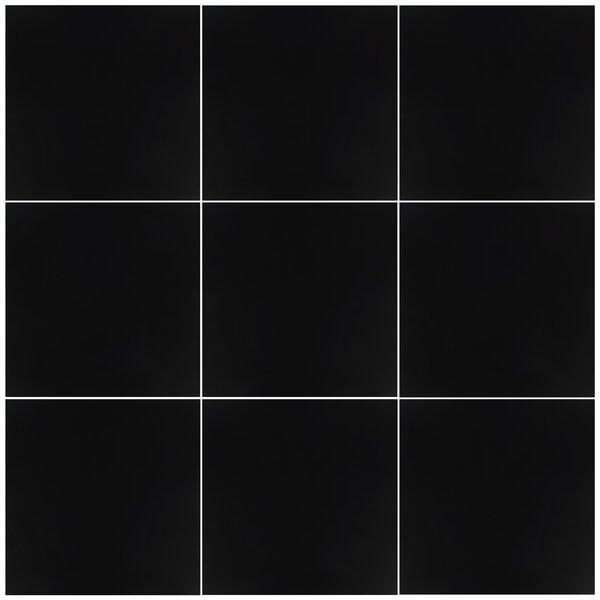 Harmonic 17.88 x 17.88 Porcelain Field Tile in Matte Black by EliteTile