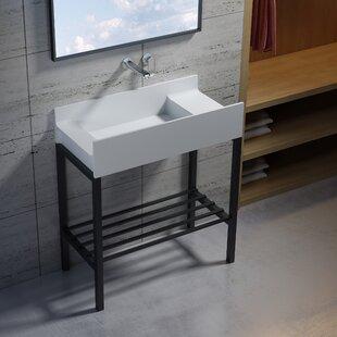 Wolkeseiben Stone 31 Console Bathroom Sink by InFurniture
