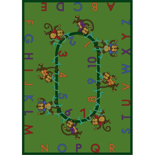 Monkey Business Green Area Rug by The Conestoga Trading Co.