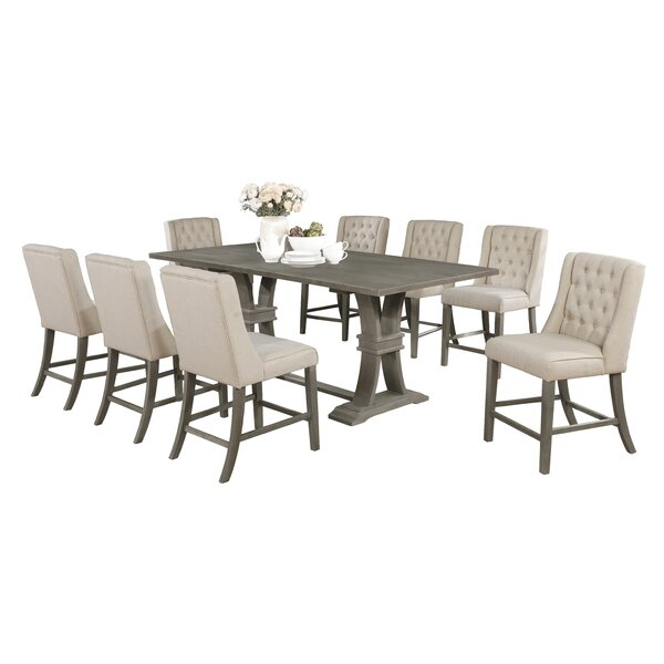 Kaya 9 Piece Counter Height Dining Set by Gracie Oaks Gracie Oaks