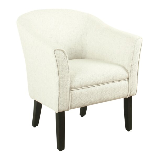 Metts Wood and Fabric Barrel Chair by Bungalow Rose