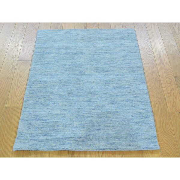 One-of-a-Kind Becker Handwoven Gray Wool Area Rug by Isabelline