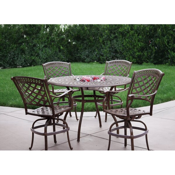 Thompson 5 Piece Bar Height Dining Set with Cushio