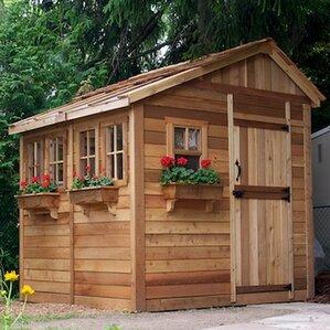 Garden Sheds 9 X 7 Wood Storage Sheds Youll Love Wayfair