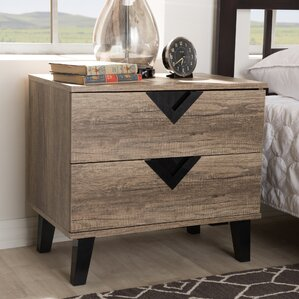 Rotterdam 2 Drawer Nightstand by Ivy Bronx
